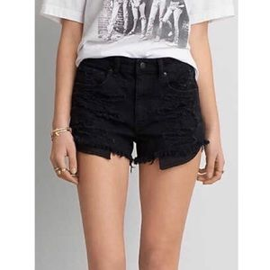 Women's Black American Eagle Jean Shorts